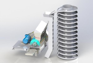 Grinding plant for synthetic and thermoplastic rubber polymerization